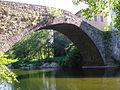 Pont-de-Rastel (Chamborigaud, Fr), le vieux pont sur le Luech.JPG