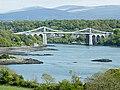 Pont Grog y Borth (Menai Suspension Bridge) - geograph.org.uk - 1885145.jpg