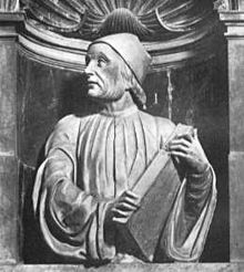 Bust of Marsilio Ficino by Andrea Ferrucci in Florence's Cathedral