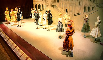 Fashion doll - Paris-made fashion dolls from the Théâtre de la Mode (1946) on display at the Maryhill Museum of Art.
