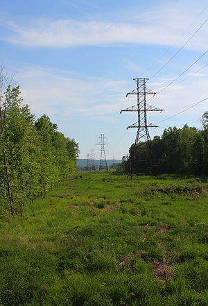 Derry Township, Montour County, Pennsylvania - Power lines in Derry Township, Montour County, Pennsylvania from Ppl Road.