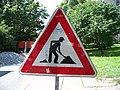Práčská, značka Práce na silnici.jpg