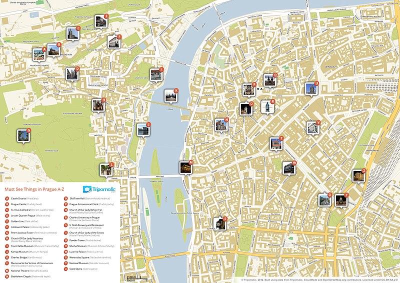 carte d233taill233e de prague avec tous les lieux du guide