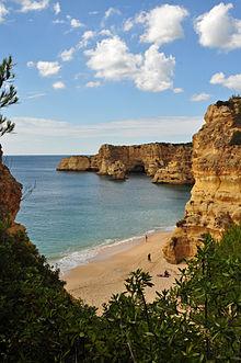 La famosa Spiaggia di Marinha, Algarve.