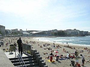 Praia de Riazor.A Coruña Galicia