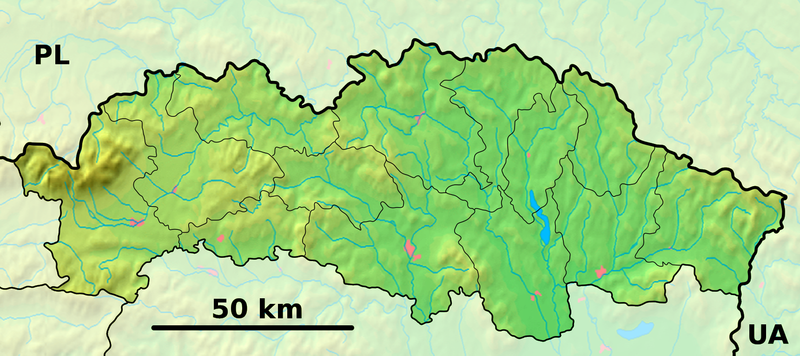 Fichier:Prešov Region - physical map.png