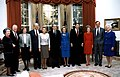 President George H. W. Bush and Barbara Bush pose with the former presidents and first ladies.jpg