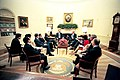 President George W. Bush meets with Prime Minister Goh Chok Tong of Singapore to the Oval Office.jpg