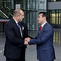 President Rumen Radev heads the Bulgarian delegation to the Meeting of the Heads of State and Government of the NATO Member States in Brussels 2018 20.jpg