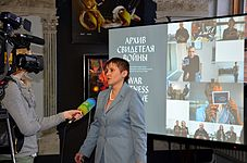 Press conference about 56 Venice Biennale in Contemporary Art Center, Minsk 21.01.2015 19.JPG