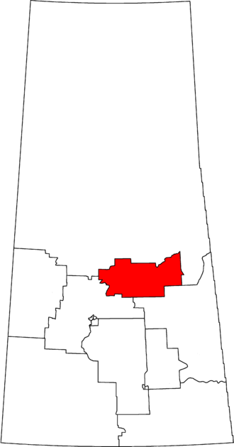 Prince Albert (electoral district) - Prince Albert in relation to other Saskatchewan federal electoral districts as of the 2013 Representation Order.