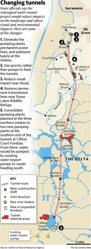 California Water Fix and Eco Restore - Proposed Delta Tunnels