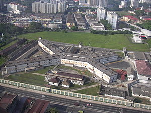 Pudu Prison - An overhead view of the Pudu Prison complex, as seen from the Berjaya Times Square
