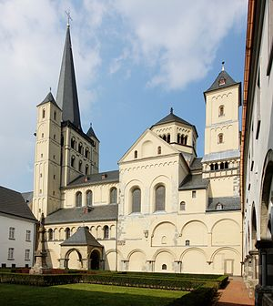 Ezzo, Count Palatine of Lotharingia - St. Nicholas' Church at Brauweiler Abbey, founded by Ezzo in 1024