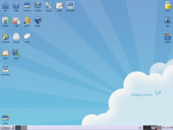 Puppy Linux 4.3 desktop screenshot