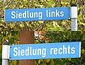 Putlitz Straßenschild Siedlung links und rechts.jpg