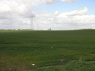 Healing, Lincolnshire - View north across the parish (2006)