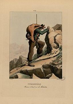 Pyrénées - Chasseur d'izard sur la Maladetta - Fonds Ancely - B315556101 A PINGRET 035