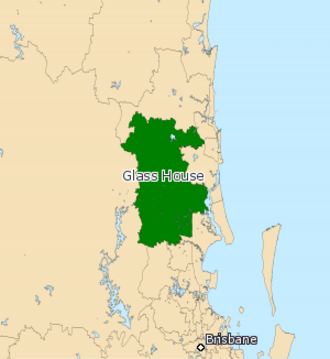 Electoral district of Glass House - 2008 Map of Glass House