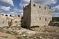 Qal'at Salah ed-Din aka Sahyun Castle tower left of donjon 4138.jpg