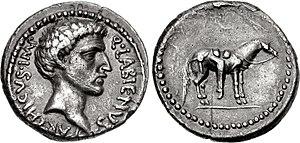 Quintus Labienus -  Labienus. Early 40 BC. AR Denarius . Uncertain mint in Syria or southeastern Asia Minor.