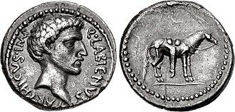 Quintus Labienus - Labienus. Early 40 BC. AR Denarius. Uncertain mint in Syria or southeastern Asia Minor.