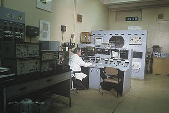 RIAN archive 500897 Control panel of the first Russian nuclear reactor.jpg