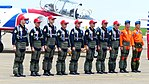 ROCAF Thundertigers and Flight Demonstration Pilots Line up at Ching Chuang Kang AFB Apron 20140719.jpg