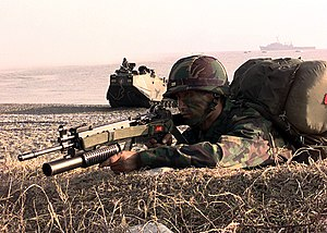 Foal Eagle - A South Korean Marine during Foal Eagle 1998.