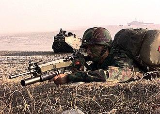 Foal Eagle - A South Korean Marine during Foal Eagle 1998.