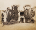 Raglan Castle, the Barbicans and Archway into Pitched Court;.PNG