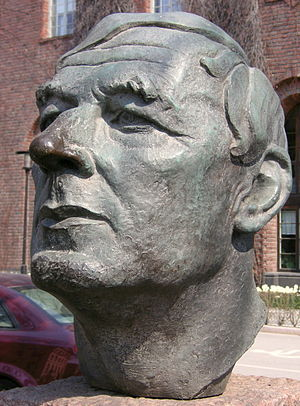 Ragnar Östberg - Ragnar Östberg, sculpture by Thorwald Alef