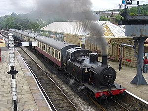 Ramsbottom - LMS 'Jinty' 0-6-0T No. 47324 at Ramsbottom railway station
