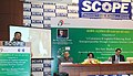 "Ravi Shankar Prasad addressing at the inauguration of the conference on - ""e-Commerce & Logistics- Enhancing Rural Entrepreneurship through CSCs"", in New Delhi on December 05, 2015.jpg"