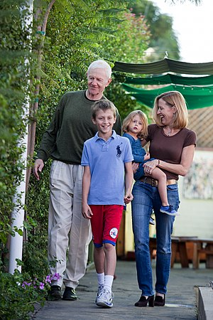 Raymond J. Barry - Raymond J. Barry with his wife and children