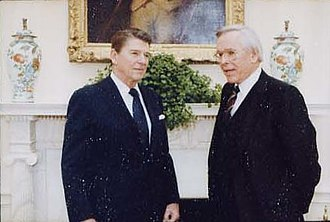 Robert Schuller - Schuller with President Ronald Reagan in 1982