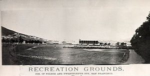 Recreation Park (San Francisco) - Image: Recreation Grounds Ballpark 25th & Folsom 1875