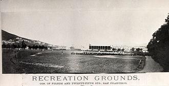 Recreation Park (San Francisco) - Image: Recreation Grounds Ballpark 25th & Folsom 1875