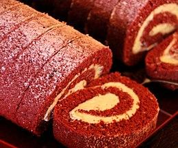 Red Velvet Roll Using Cake Mix