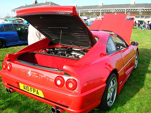 Red Ferrari F355 GTS open