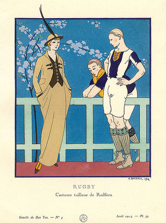 Sportswear (fashion) - Pre-sportswear tailormade by Redfern. Bon Ton, April 1914.