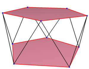 Decagon - Image: Regular skew polygon in pentagonal antiprism