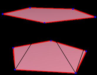 Decagon - Image: Regular skew polygon in pentagonal antiprism