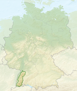 Relief Map of Germany, Black Forest
