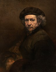 Rembrandt: Self Portrait with Beret and Turned-Up Collar