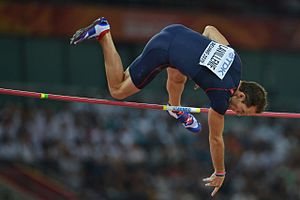 2015 World Championships in Athletics – Men's pole vault - Renaud Lavillenie clearing his only height