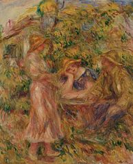 Three Figures in Landscape
