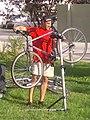 Repairing bicycle Shenandoah Valley Bicycle Festival Our Community Place Harrisonburg VA July 2012.jpg