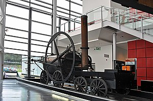 National Waterfront Museum - Replica of Richard Trevithick's  steam locomotive