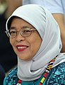 Republic of Singapore President Halimah Yacob witnesses the program proper during her visit to the Philippine Eagle Center in Davao City on September 11, 2019 (cropped).jpg